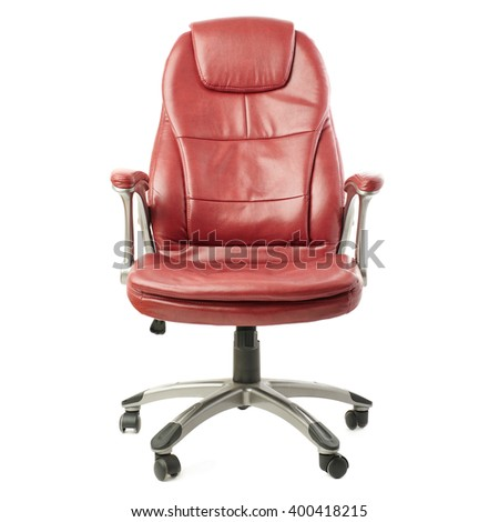 Office chair over isolated white background - stock photo