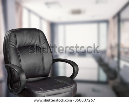 office chair with office background & Office Chair Office Background Stock Photo (Edit Now) 350807267 ...