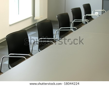 office chairs in a row