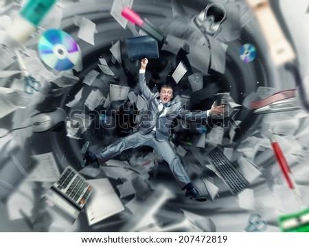 Office chaos - stock photo