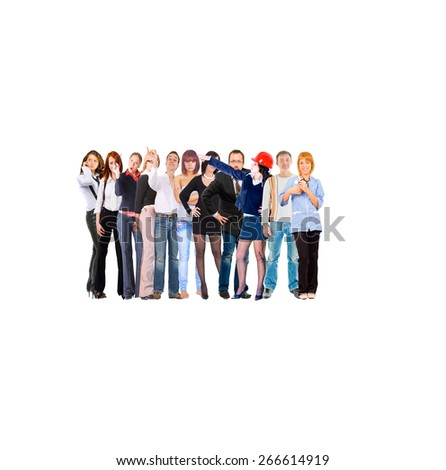 Office Culture Standing Together  - stock photo