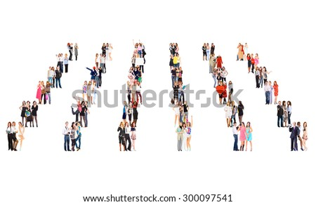 Office Culture Together we Stand  - stock photo