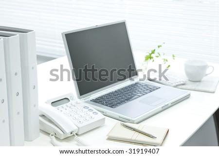 Office desk - stock photo