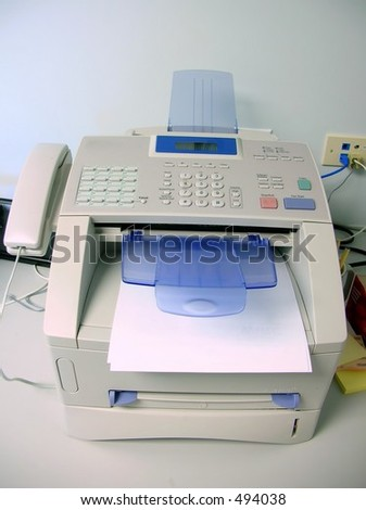 Office fax machine