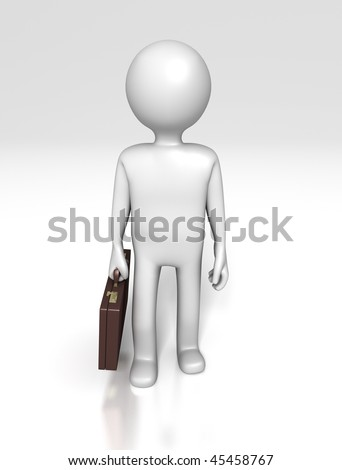 Office Figure (With Clipping Path) - stock photo