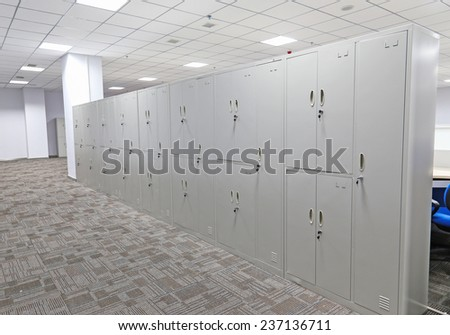 office file cabinet - stock photo