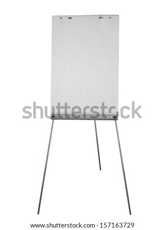 Office  flipchart aka flip chart isolated over white background