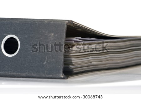 office folder - stock photo