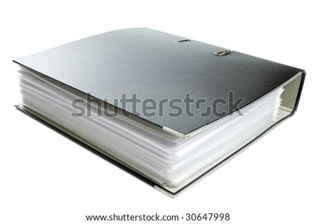 Office folder isolated on white - stock photo