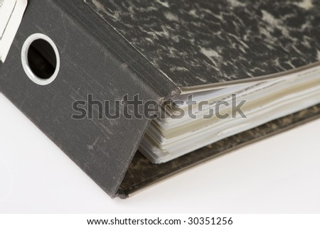 office folder on white background - stock photo