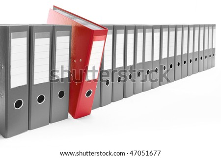 Office folders - stock photo
