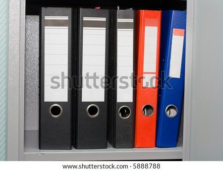 Office folders - stock photo