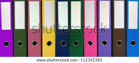 Office folders background - stock photo