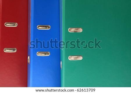 office folders binder background - stock photo