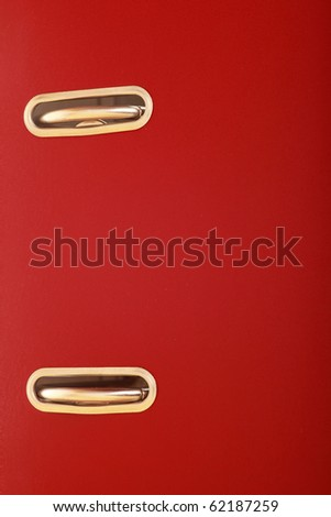 office folders red binder background - stock photo