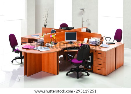 Office furniture - stock photo