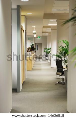 office hall - stock photo