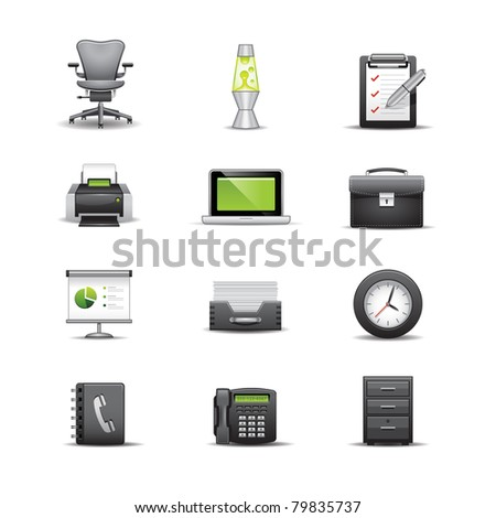 Office Icons - stock photo