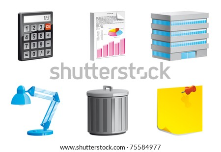 Office icons 3d series - stock photo