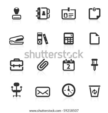Office  icons - minimo series - stock photo