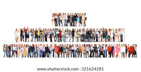 Office Idea Standing Together  - stock photo