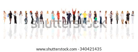 Office Idea Together we Stand  - stock photo