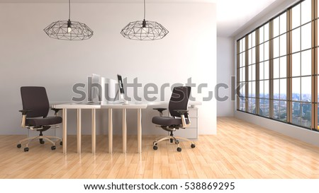 Office interior. 3D Illustration.