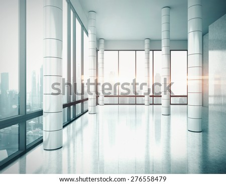 Office interior. 3D rendering. - stock photo