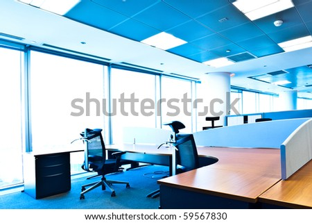 Office interior free of people