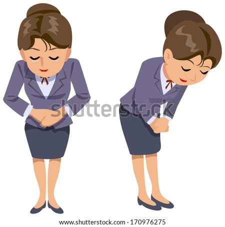 Office lady - greetings - stock photo