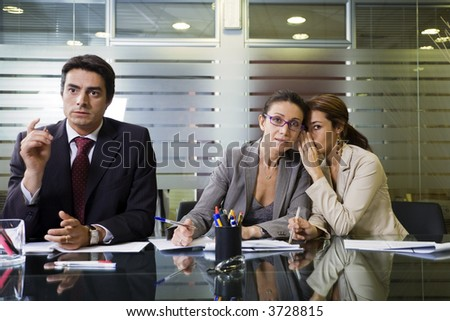 Office life: business team involved in a meeting