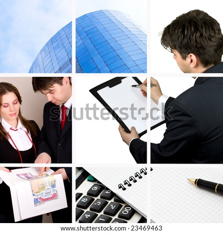 Office life collage - stock photo