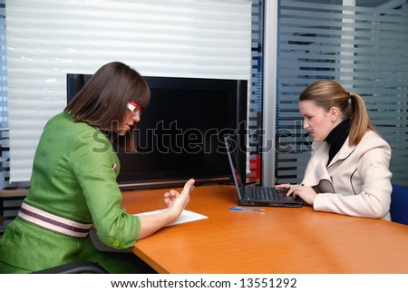 office life concept with two businesswoman