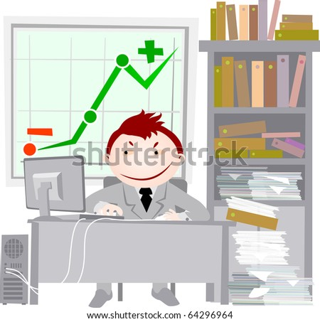 office life - crisis - stock photo