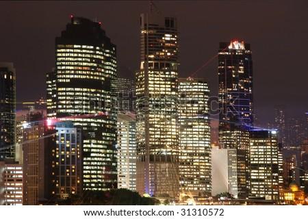 Office light in Brisbane Australia - stock photo