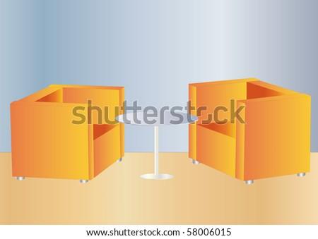 office lounge - stock photo