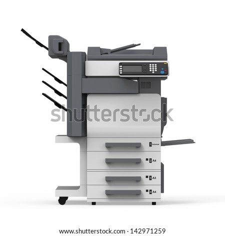 Office Multifunction Printer - stock photo