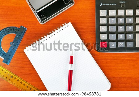 office notes - stock photo
