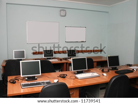 Office or training center interior - stock photo