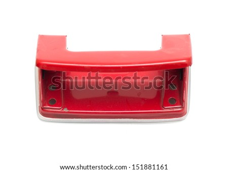 office paper hole puncher isolated on white background