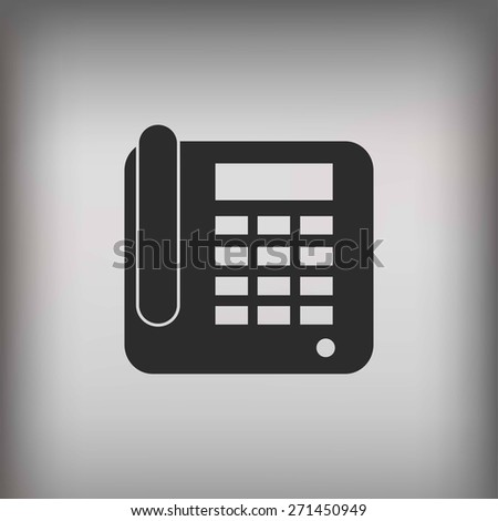 Office Phone Icon - stock photo