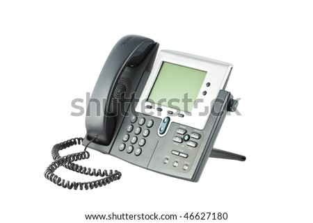 Office phone isolated on the white background - stock photo