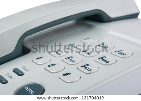 Office phone on a white background - stock photo