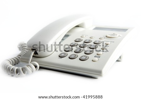 Office phone on a white background.