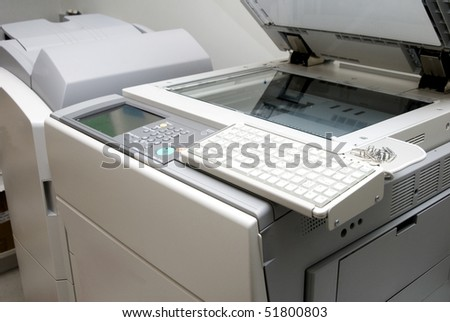 Office photocopier and scanner