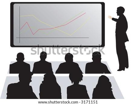 Office Presentation Chart Graph - stock photo