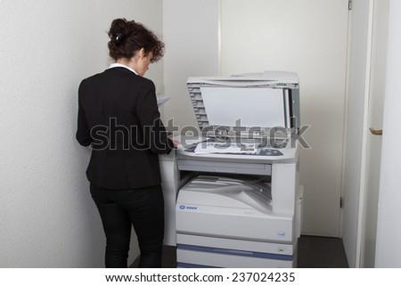 Office printer... - stock photo