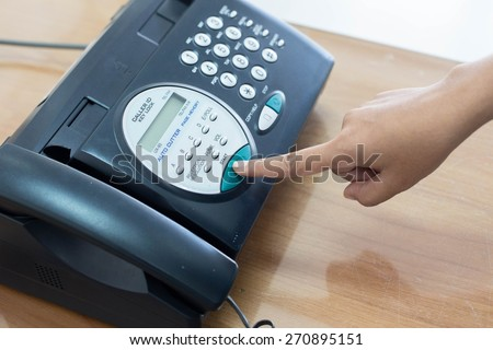 Office printer fax and copy machines - stock photo