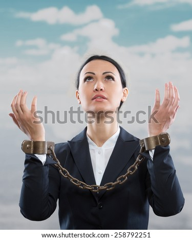 Office prisoner concept - stock photo