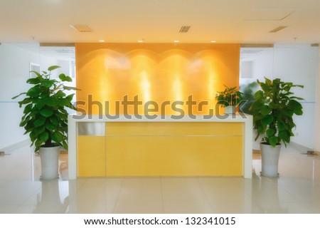 office reception - stock photo
